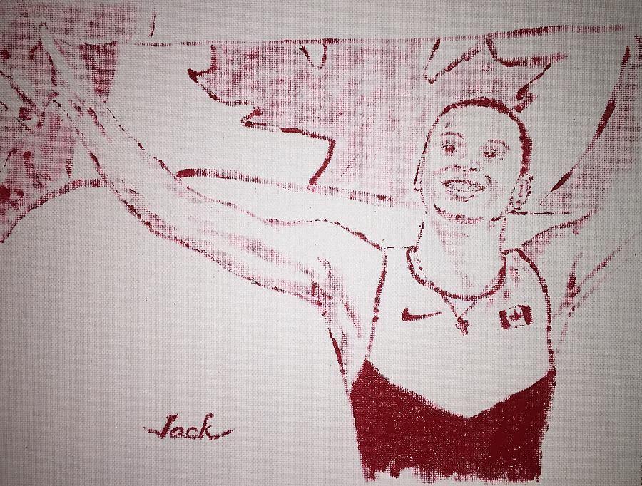 Olympics Painting - Andre De Grasse by Jack Bunds