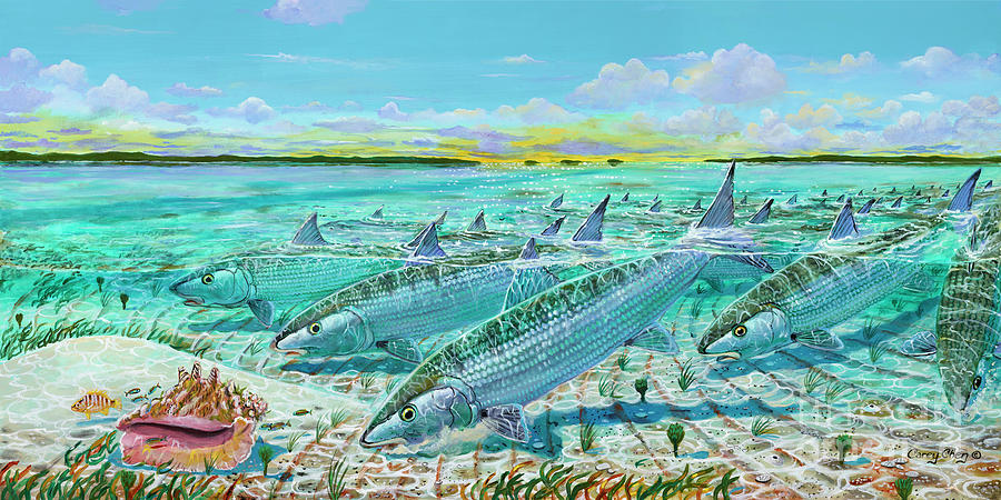Andros  Bonefishes In0032 Painting