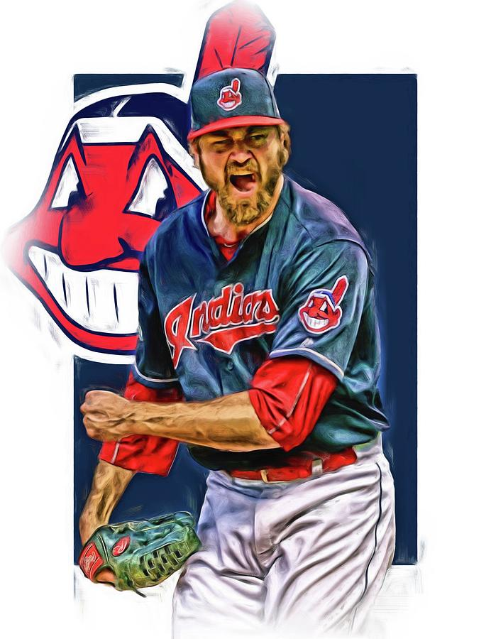 Andrew Miller Mixed Media - Andrew Miller CLEVELAND INDIANS OIL ART by Joe Hamilton