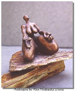 Bronze Sculpture - Androgene by Alex Nodopaka