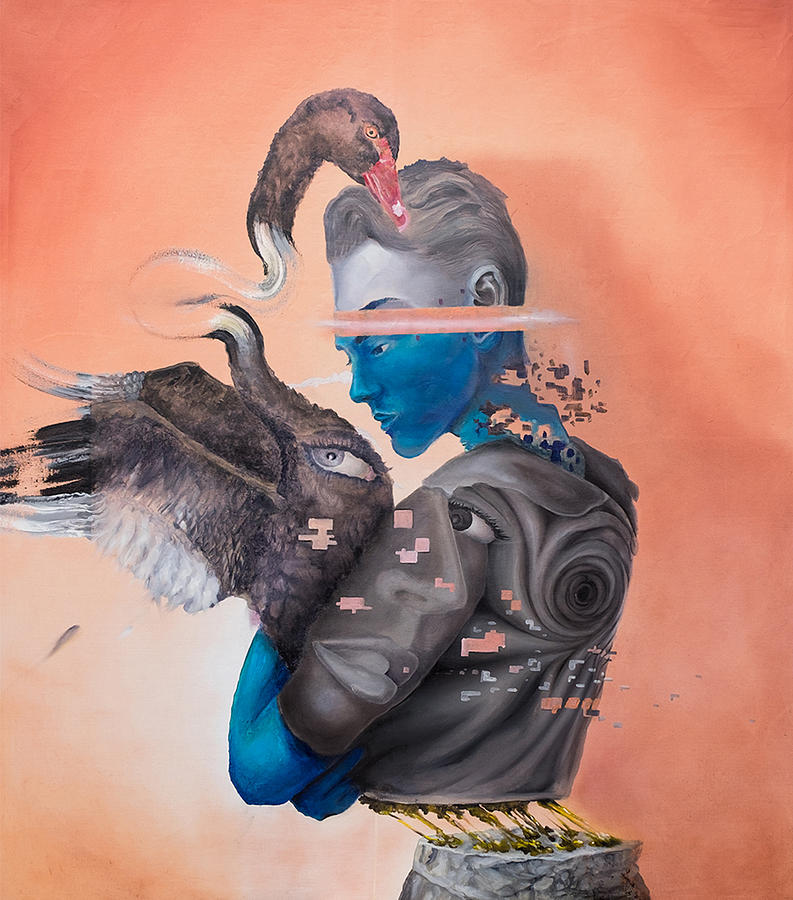 Surrealism Painting - Androgenetic by Obie Platon