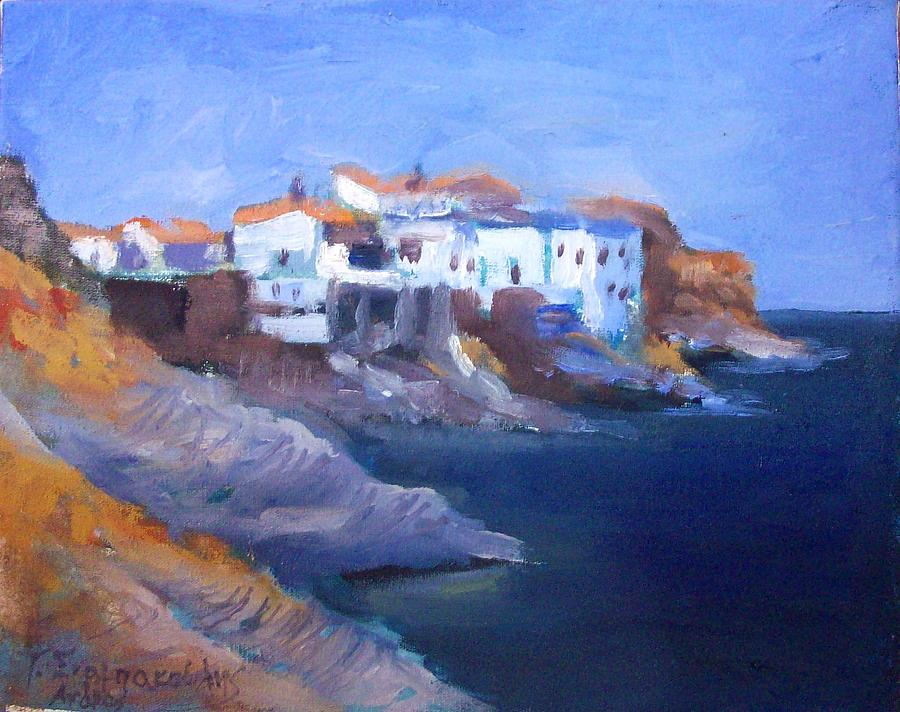 Andros Island Painting by George Siaba
