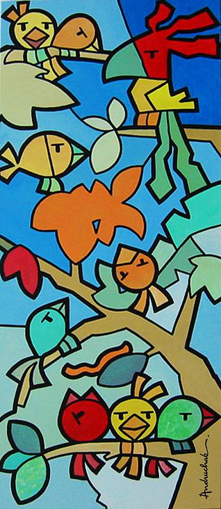 Fauna Painting - Andruchak - Kingdom by Marcos Andruchak