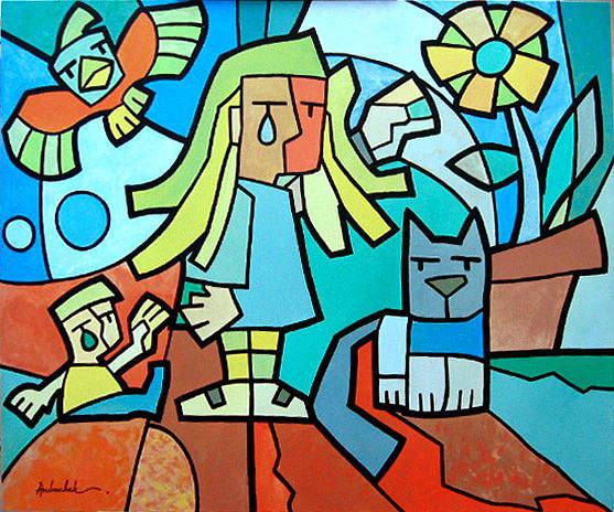Figurative Painting - Andruchak - Sentimento by Marcos Andruchak