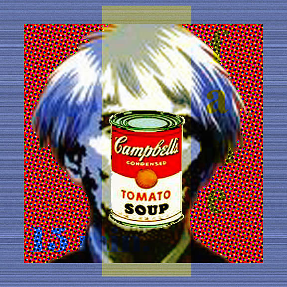 Andy Warhol Mixed Media - Andy by Dennis Flynn
