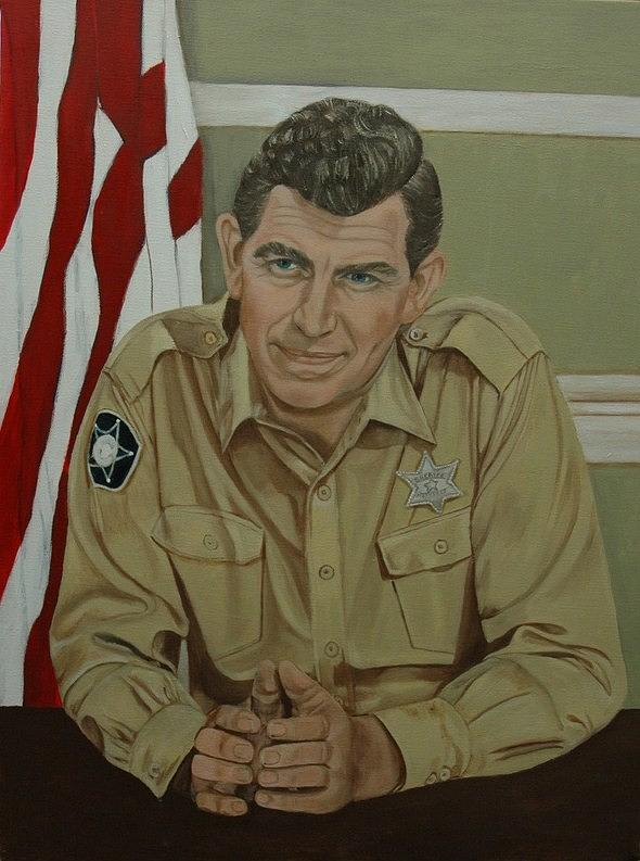 Andy Painting - Andy Griffith by Tresa Crain