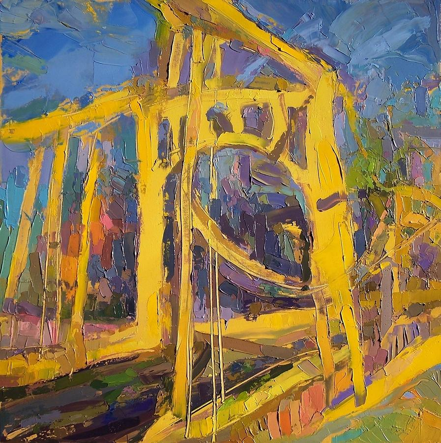 Andy Warhol Bridge Painting by Roland Kay