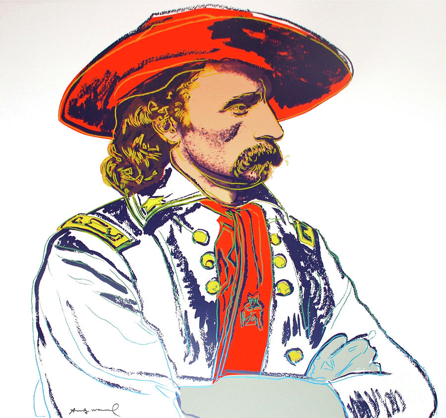 Andy Warhol Mixed Media - Andy Warhol, General Custer, Cowboys And Indians Series by Thomas Pollart