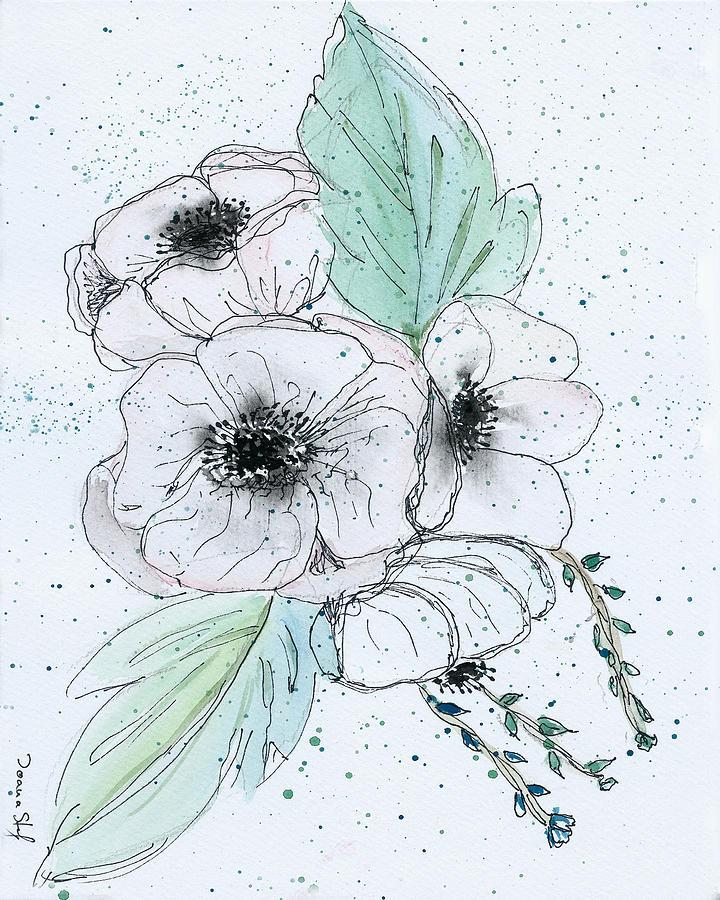 Anemone Painting - Anemone Bouquet by Ioana Stefaroi
