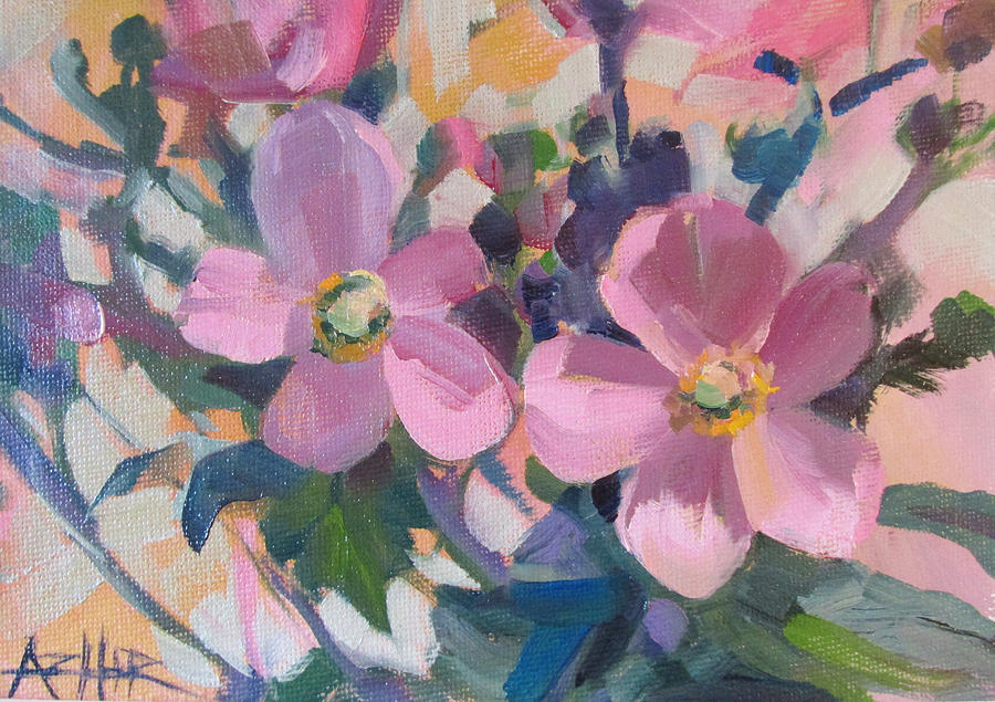 Flower Painting - Anemone Flowers by Azhir Fine Art