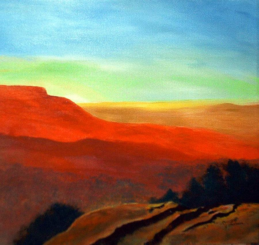 Landscape Painting - Anew by Julie Lamons