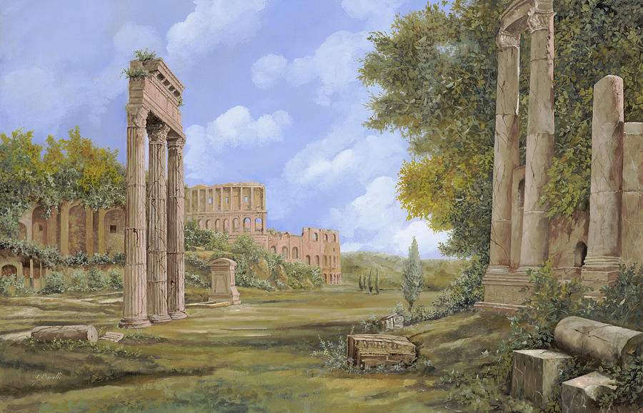 Landscapes Painting - Anfiteatro Romano by Guido Borelli