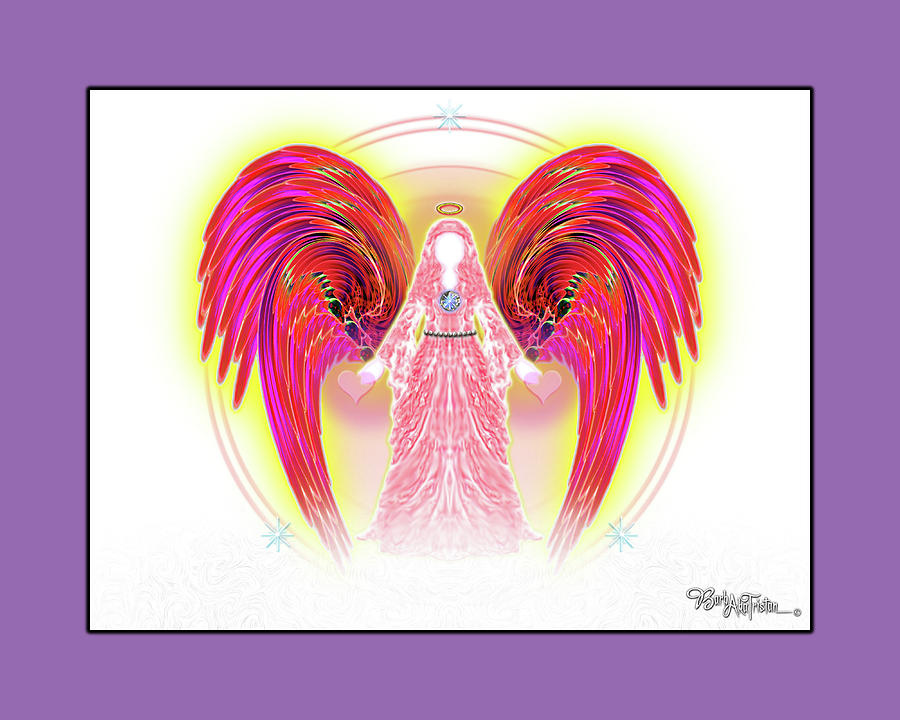 Inspiration Digital Art - Angel #199 by Barbara Tristan