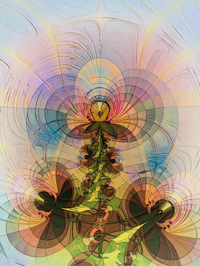 Abstract Digital Art - Angel 2 by Alexandru Bucovineanu