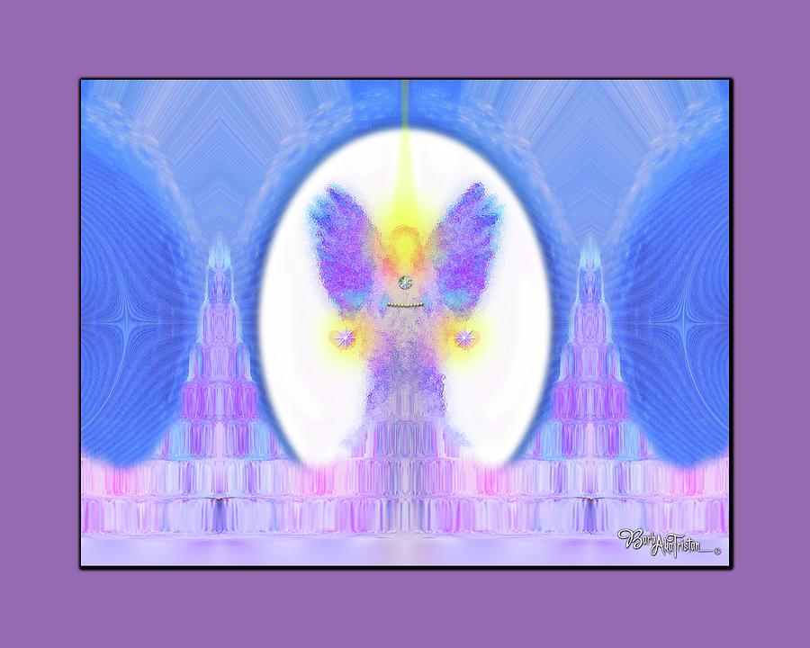 Inspiration Digital Art - Angel #200 by Barbara Tristan