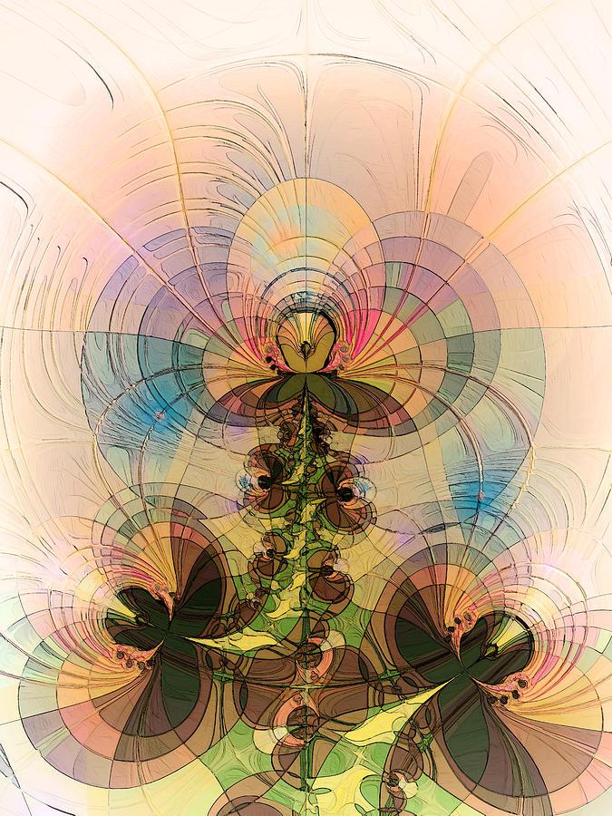 Abstract Digital Art - Angel by Alexandru Bucovineanu