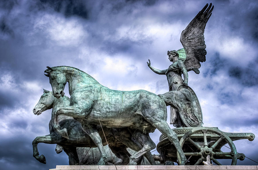 Angel and Chariot with Horses by Sonny Marcyan
