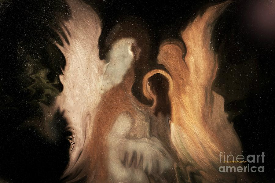 Angels Painting - Angel Art Little Family Of Angels by Sherris - Of Palm Springs