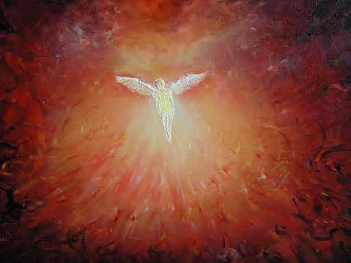 Angel Painting - Angel Ascending by Eileen Anderson