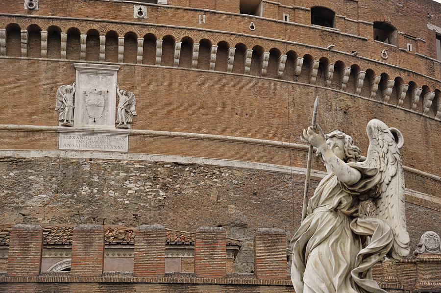 Italy Photograph - Angel At The Castel by JAMART Photography