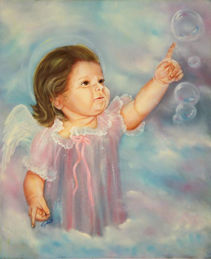 Angel Painting - Angel Baby by Joni McPherson