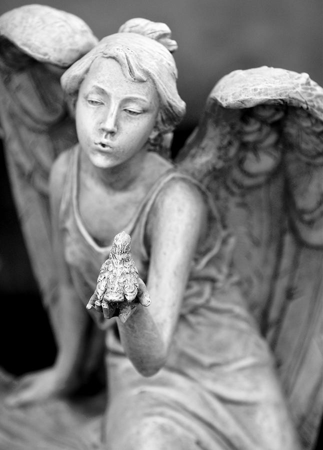 Angel Photograph - Angel Blowing Kisses by Gwen Allen