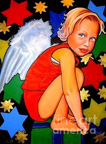 Angel Painting - Angel Boy by Caprice Melo