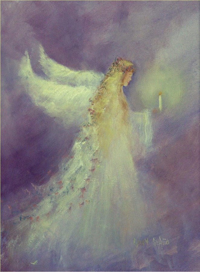Angels Painting - Angel Bright by Sally Seago