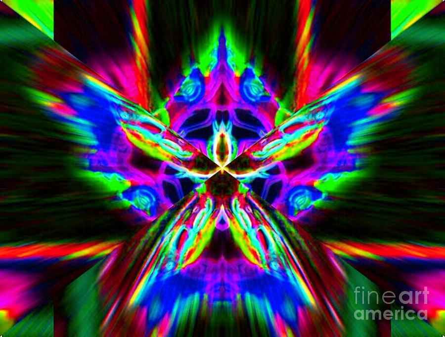 Abstract Digital Art - Angel Dust by Lorles Lifestyles