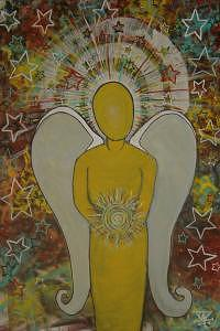 Angel Energy Painting by Bo Huffman