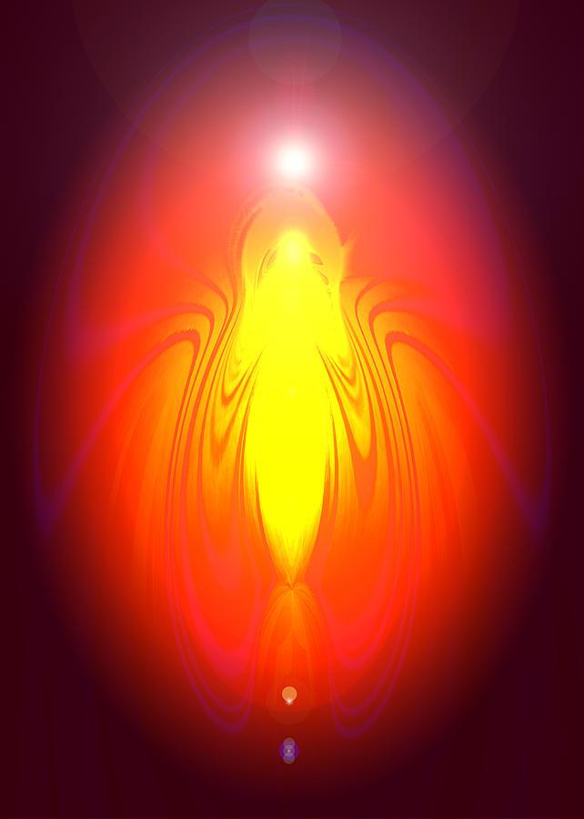 Andel Digital Art - Angel-energy-healing by Ramon Labusch