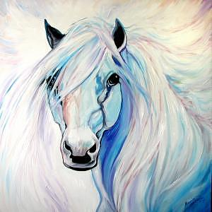 Horse Painting - Angel Equine by Marcia Baldwin