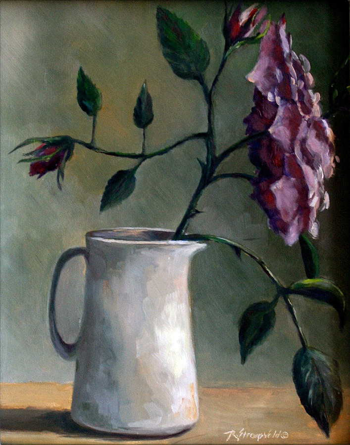 Rose Painting - Angel Face and Pitcher by Ruth Stromswold