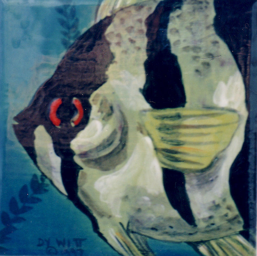 Fish Painting - Angel Fish by Dy Witt