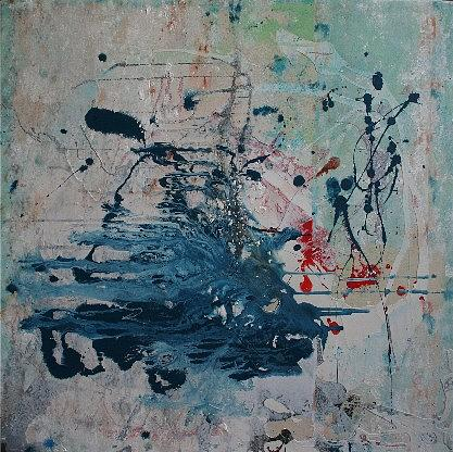 Abstract Painting - Angel Gone by Lance Rautzhan