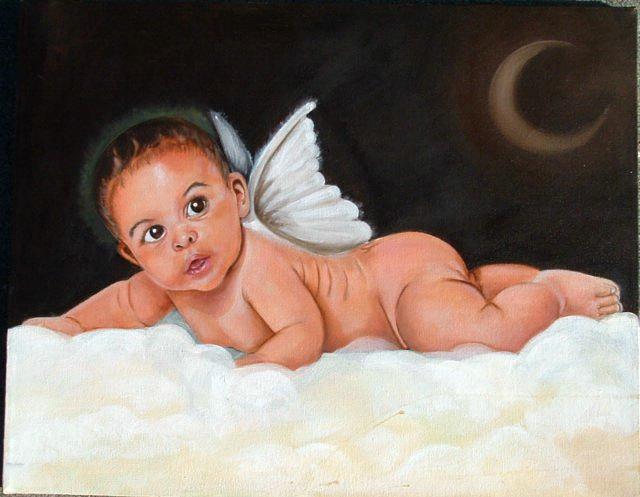 Portrait Painting - Angel by Gwendolyn Frazier