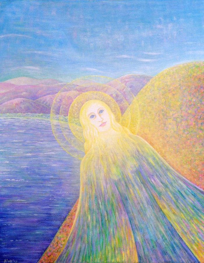 Symbolic Painting - Angel by Hiske Tas Bain