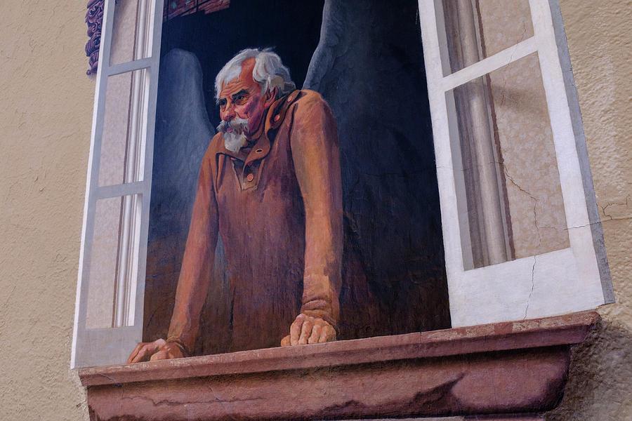 Angel In A Window In Frederick Maryland by John McLenaghan