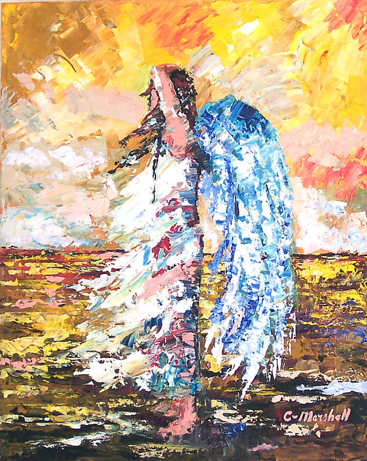 Painting Painting - Angel In The Wind by Claude Marshall