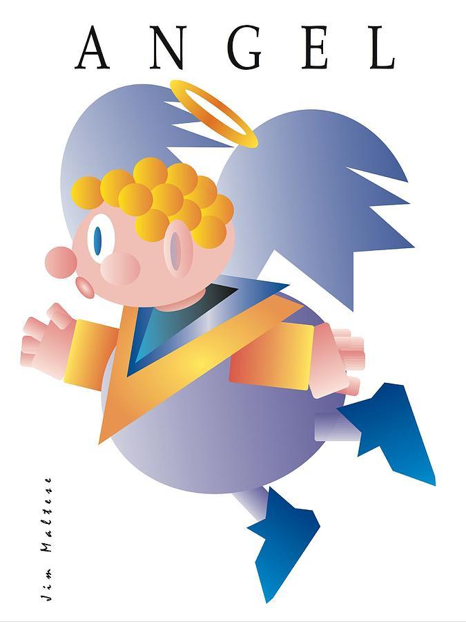 Angel Digital Art - Angel by James Maltese