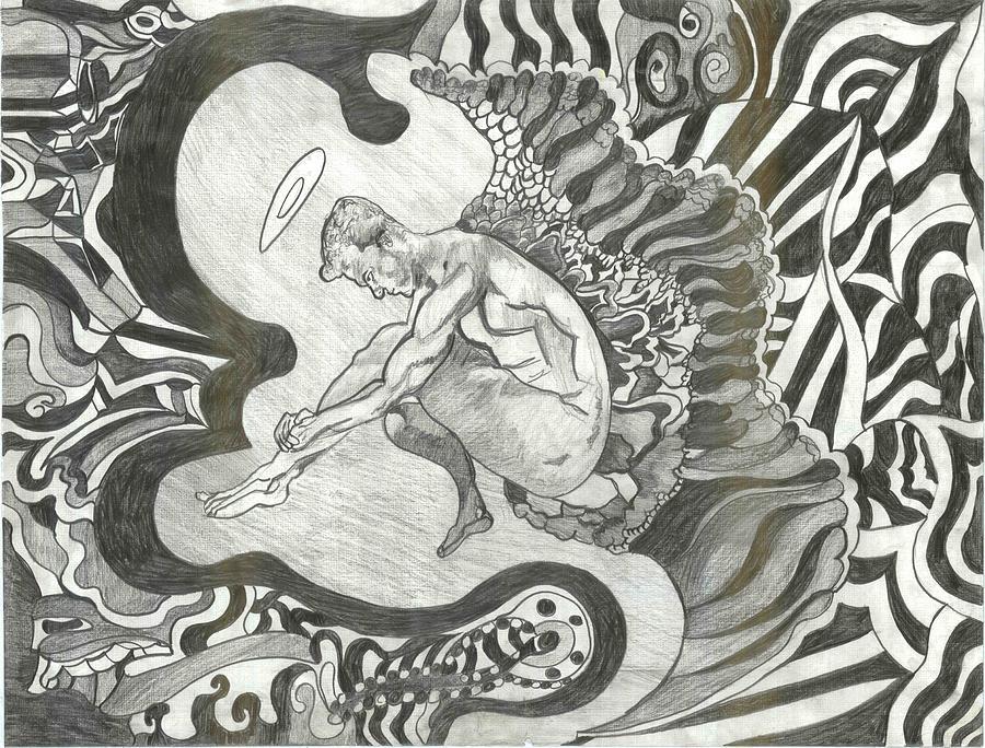 Angel Drawing by Joseph  Arico