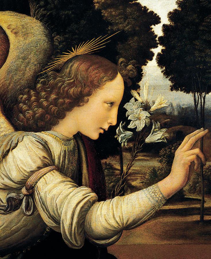 Angel Painting - Angel by Leonardo Da Vinci