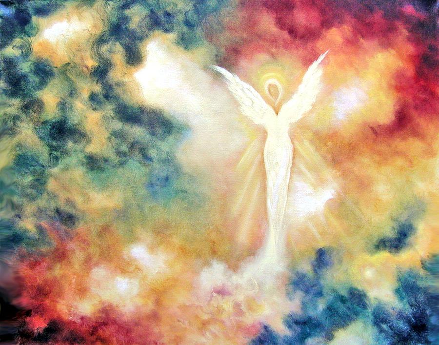 Angel Painting - Angel Light by Marina Petro