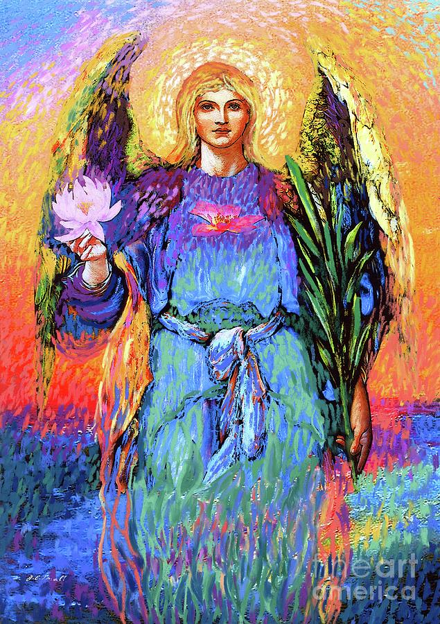 Spiritual Painting - Angel Love by Jane Small