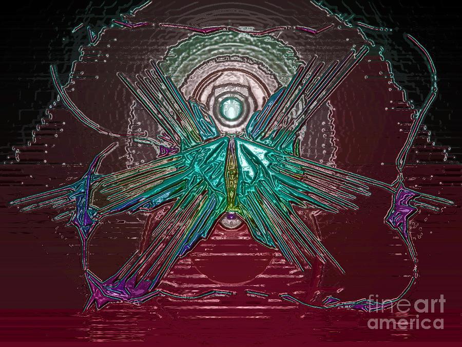 Blood Digital Art - Angel Of Blood by Patrick Guidato