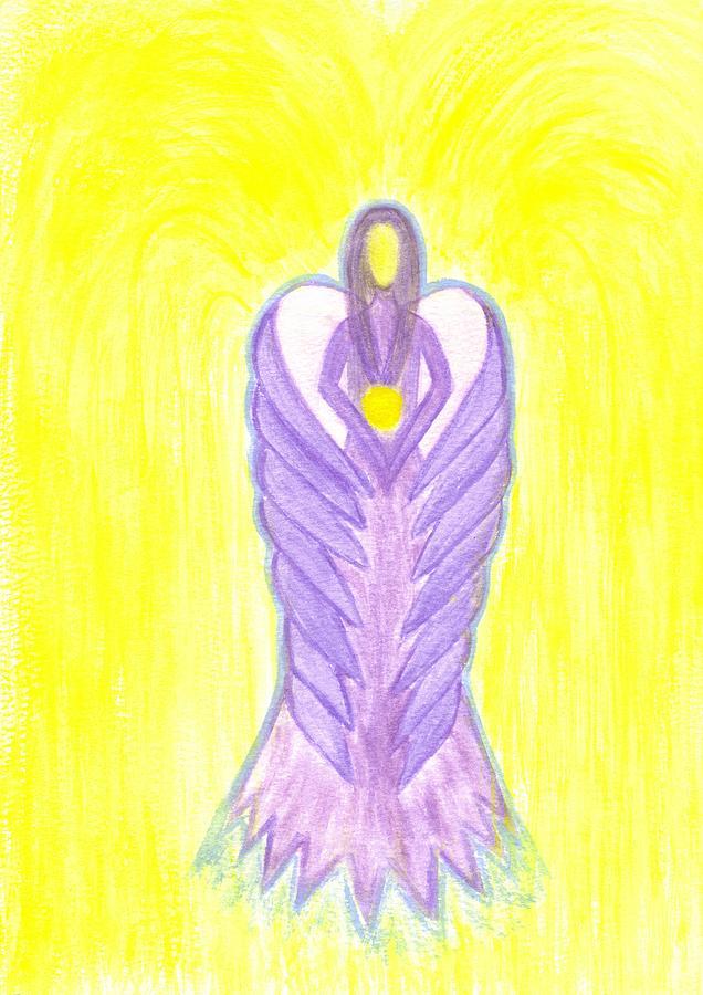 Angel Painting - Angel Of Compassion by Konstadina Sadoriniou - Adhen