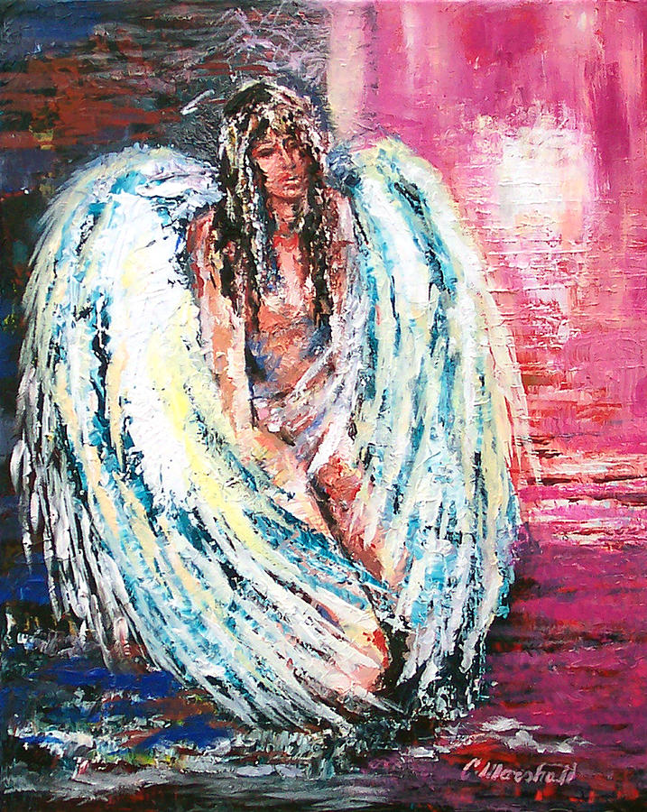 Painting Print - Angel Of Dreams by Claude Marshall