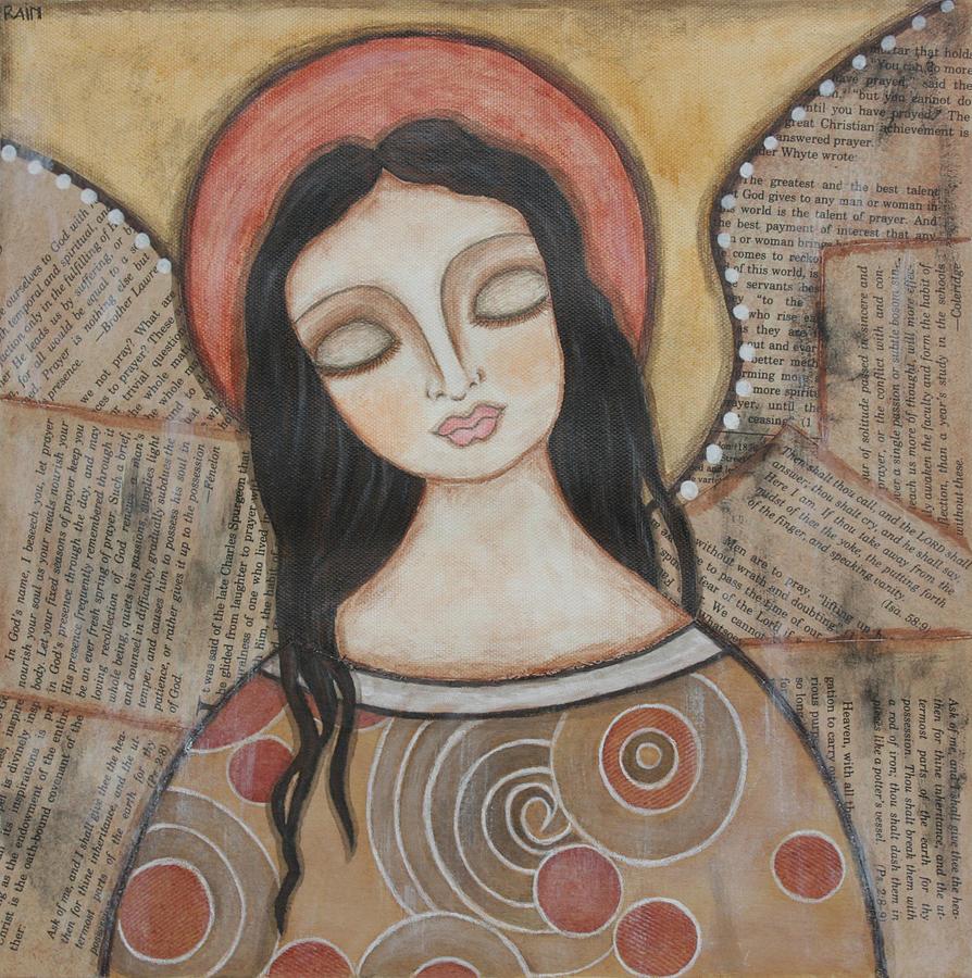 Acrylic Painting - Angel Of Dreams by Rain Ririn