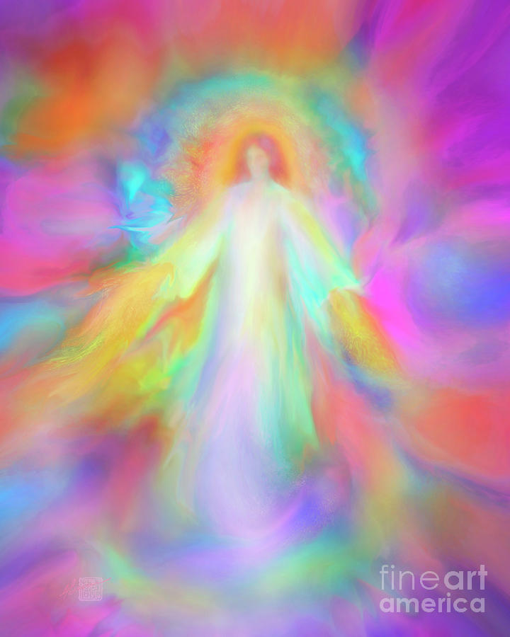 Angel Painting - Angel Of Forgiveness And Compassion by Glenyss Bourne
