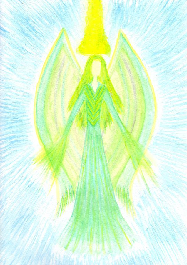 Angel Painting - Angel Of Generosity by Konstadina Sadoriniou - Adhen